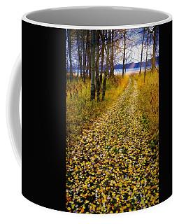 Leaves On Trail Coffee Mug