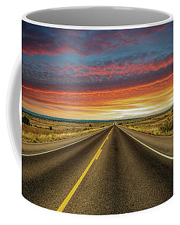 Leaving Lubbock Vanishing Point Coffee Mug