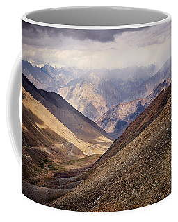 Coffee Mug featuring the photograph Leh-manali Mountains by Whitney Goodey