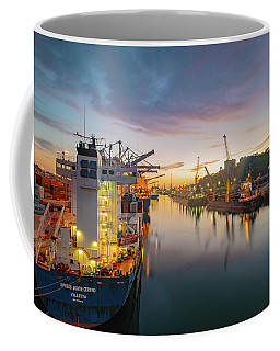 Coffee Mug featuring the photograph Leixoes Harbour by Bruno Rosa