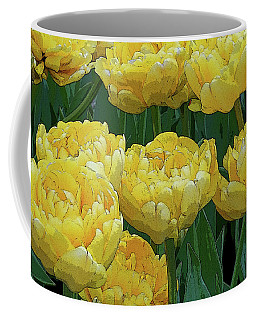 Lemony Yellow Tulips Coffee Mug