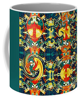 Coffee Mug featuring the digital art Les Quatre Elements by A zakaria Mami