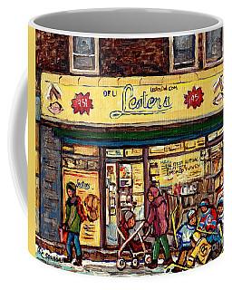 Lester's Deli Boys Of Bernard Hockey Art Mile End Montreal Best Beef Hot Dogs C Spandau Quebec Art Coffee Mug