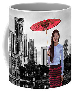 Coffee Mug featuring the digital art Let The City Be Your Stage by ISAW Company