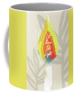 Coffee Mug featuring the mixed media Let There Be Light Candle- Art By Linda Woods by Linda Woods