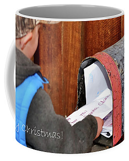 Coffee Mug featuring the photograph Letters To Santa With Greeting by Jerry Sodorff