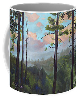 Coffee Mug featuring the painting Lifting My Soul At Pink Knob - In Elliay by Jan Dappen