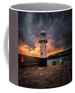 Lighthouse Dramatic Sky Coffee Mug