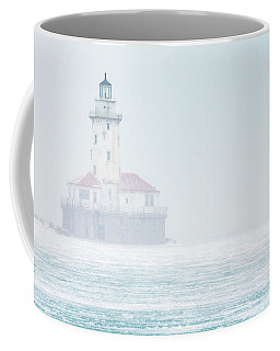 Lighthouse In The Mist Coffee Mug