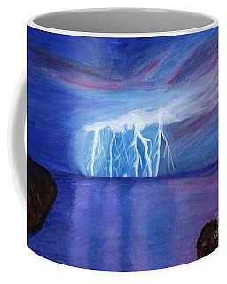 Lightning On The Sea At Night Coffee Mug