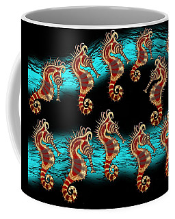 Coffee Mug featuring the drawing Like Musical Notes Upon The Sea by Joan Stratton