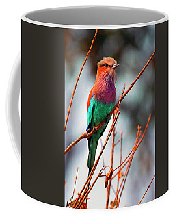Coffee Mug featuring the photograph Lilac Breasted Roller by John Rodrigues
