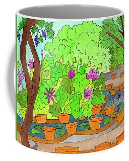 Coffee Mug featuring the painting Lilies by Suzy Mandel-Canter