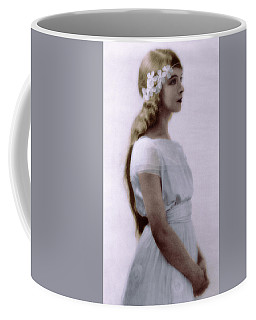 Coffee Mug featuring the photograph Lillian Gish Colorized by Robert G Kernodle