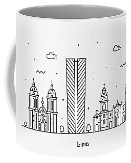 Lima Cityscape Travel Poster Coffee Mug