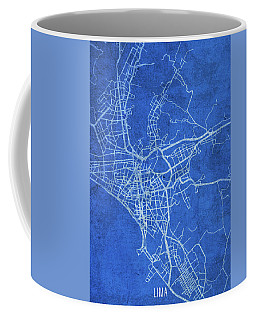 Lima Peru City Street Map Blueprints Coffee Mug