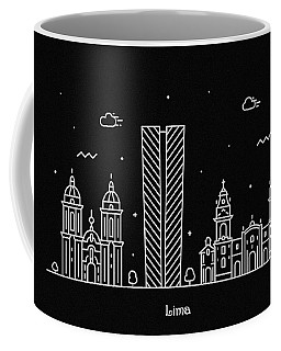 Lima Skyline Travel Poster Coffee Mug