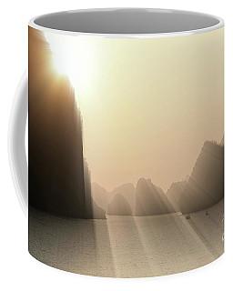Limestone Sun Rays Ha Long Bay Vietnam Coffee Mug