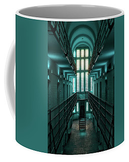 Lincoln Castle Prison In Blue Coffee Mug