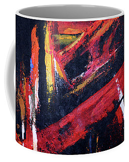 Coffee Mug featuring the painting Lines Of Fire by Arttantra