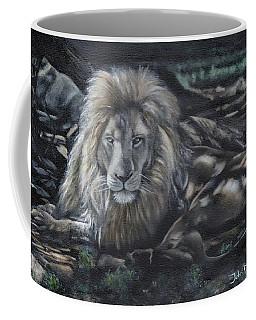 Lion In Dappled Shade Coffee Mug