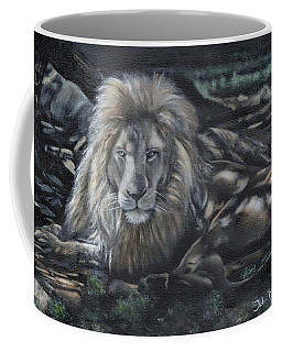 Lion In Dappled Shade Coffee Mug