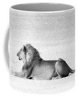 Coffee Mug featuring the photograph Lion In Wait by Rand