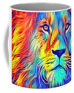 Coffee Mug featuring the mixed media Lion Of Judah by Jessica Eli