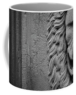 Coffee Mug featuring the photograph Lion Statue Portrait by Nathan Bush