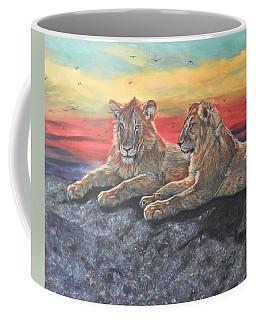 Lion Sunset Coffee Mug