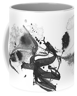 Little Cloud - Black And White Abstract Coffee Mug