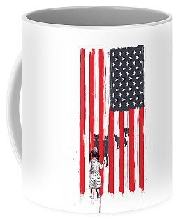 Little Girl And Wolves Coffee Mug