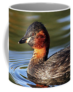Coffee Mug featuring the photograph Little Grebe In Pond by Grant Glendinning