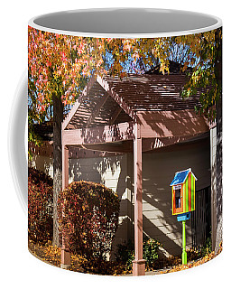 Coffee Mug featuring the photograph Little Library 2 by Mark Mille