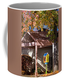 Coffee Mug featuring the photograph Little Library by Mark Mille