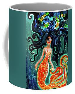 Little Mermaid In Orange Coffee Mug