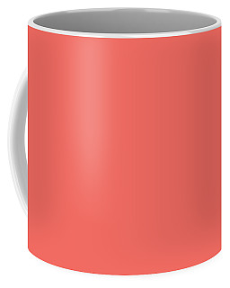 Coffee Mug featuring the mixed media Living Coral - Pantone Color Of The Year 2019 by Carol Cavalaris