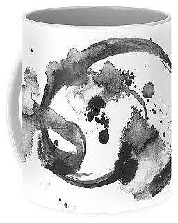 Living In The Clouds - Large Abstract Ink Painting Coffee Mug