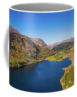 Llyn Dinas, Snowdonia From The Air Coffee Mug