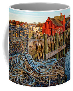 Lobster Traps And Line At Motif #1 Coffee Mug
