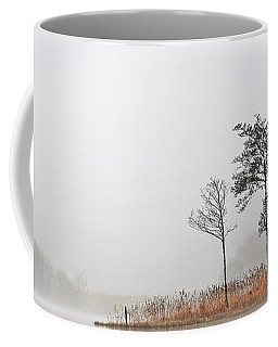 Coffee Mug featuring the photograph Loch Ard Misty Autumn Morning by Grant Glendinning
