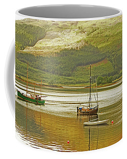 Loch Leven. The Boats At Ballachulish Coffee Mug