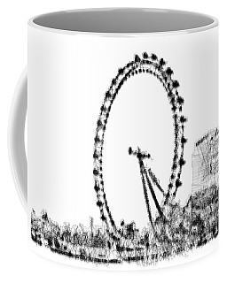 Coffee Mug featuring the digital art London Eye by ISAW Company