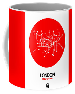 London Red Subway Map Coffee Mug