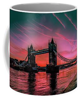 London Tower Bridge Sunrise Pano Coffee Mug