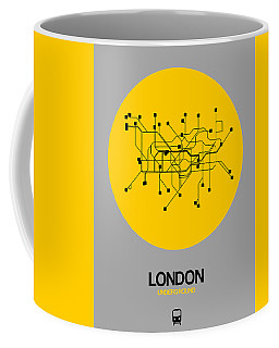 London Yellow Subway Map Coffee Mug