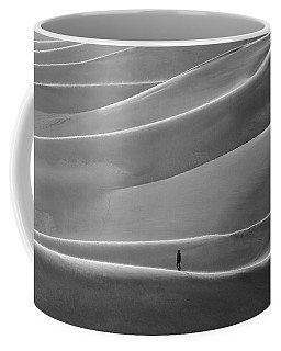 Coffee Mug featuring the photograph Lone Sand Trekker by Rand