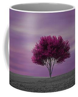 Lonely Tree At Purple Sunset Coffee Mug