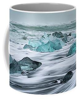 Long Exposure At The Jokulsarlon Ice Beach Coffee Mug