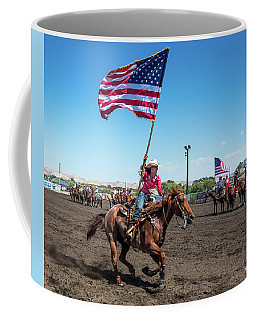 Coffee Mug featuring the photograph Long May It Wave by Mike Long